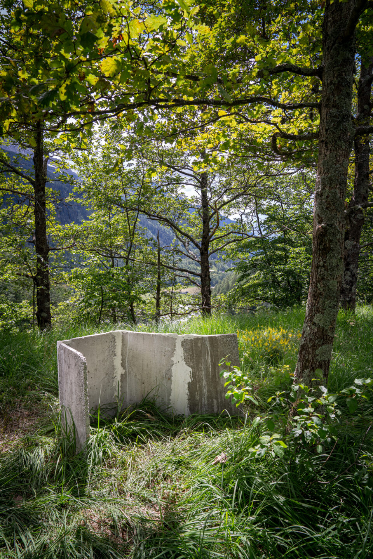 Biennale Bregaglia 2020 – Nino Baumgartner, Metabolistic Ruins, 2020; Bild © Yanik Bürkli, CLUS AG