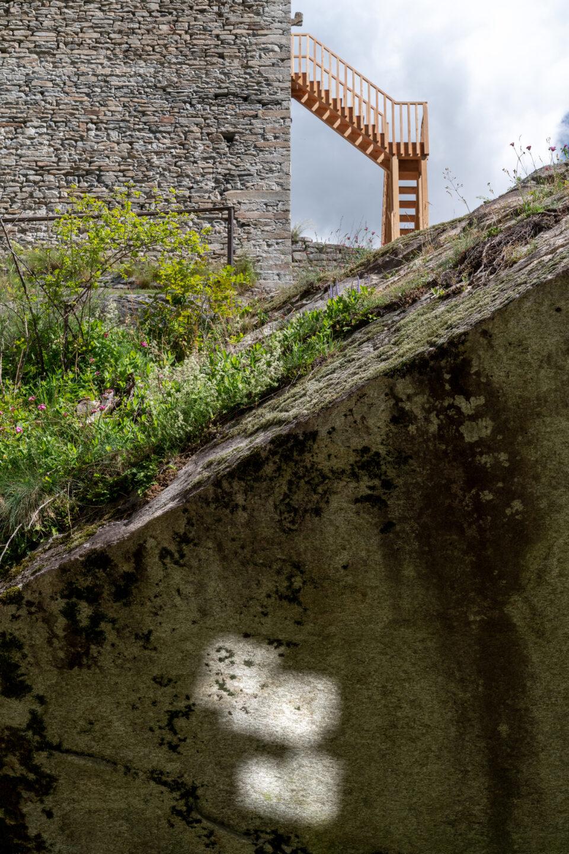 Biennale Bregaglia 2020 – Asi Föcker, Fels, 2020; Bild © Yanik Bürkli, CLUS AG