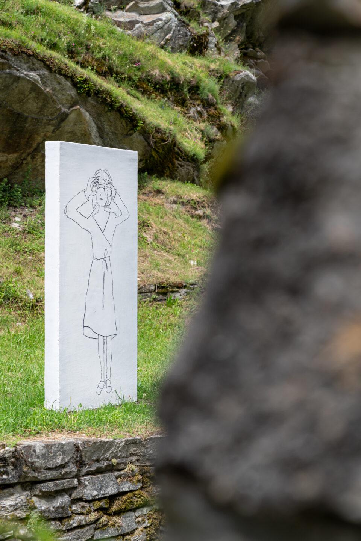 Biennale Bregaglia 2020 – Zilla Leutenegger, Guarda lontano, 2020; Bild © Yanik Bürkli, CLUS AG